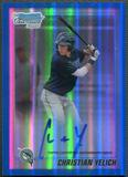 2010 Bowman Chrome Draft Prospect #BDPP78 Christian Yelich Rookie Blue Refractor Auto #136/150