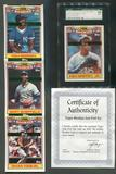 1990 Topps Baseball Rookies Foil Test Issue Set Griffey Graded SGC 96