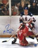 Mike Ramsey Autographed USA 8x10 Photo Miracle on Ice