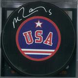 Mike Ramsey Autographed USA Hockey Puck Miracle on Ice