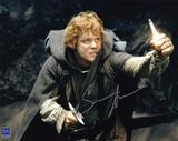 Sean Astin Autographed Rings Sword 8x10 LOTR Photo