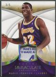 2013/14 Immaculate Collection #9 Magic Johnson Jersey Tag #3/5