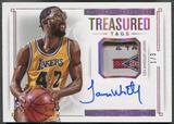2014/15 Panini National Treasures James Worthy Treasured Tag Auto #1/3