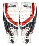 Ryan Miller CCM Goalie Pads Autographed Game Used red white black