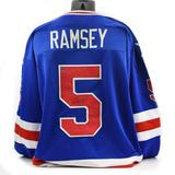 Mike Ramsey Autographed USA Blue Hockey Jersey Miracle on Ice