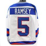 Mike Ramsey Autographed USA White Hockey Jersey Miracle on Ice