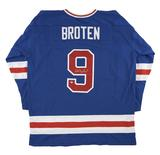 Neal Broten Autographed USA Blue Hockey Jersey Miracle on Ice