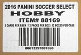 2016/17 Panini Select Soccer Hobby 12-Box Case