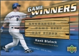 2004 Upper Deck Game Winners Bat #HB Hank Blalock