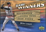 2004 Upper Deck Game Winners Bat #ML Mike Lowell