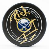 Rick Jeanneret Autographed Buffalo Sabres Official Game Hockey Puck