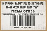 2016/17 Panini Gold Standard Basketball Hobby 12-Box Case