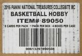 2016/17 Panini National Treasures Collegiate Basketball Hobby 4-Box Case