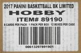 2016/17 Panini Limited Basketball Hobby 12-Box Case