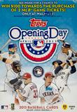 2013 Topps Opening Day Baseball 11-Pack Box