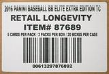 2016 Panini Elite Extra Edition Longevity Baseball 20-Box Case