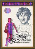2001 Greats of the Game #POY3 Larry Bird Player of the Year Auto #48/79