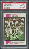 1973 Topps Football #479 Merlin Olsen PSA 8 (NM-MT)