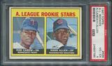 1967 Topps Baseball #569 Rookie Stars Rod Carew Rookie PSA 4 (VG-EX)
