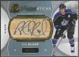 2014/15 The Cup #SSBL Rob Blake Scripted Sticks Auto #08/35 (Damaged)