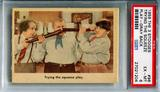 1959 The 3 Stooges Trying The Squeeze Play #96 Gray Back PSA 6 *27021204*