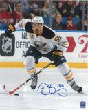 Justin Bailey Autographed Buffalo Sabres 8x10 White Jersey Photo