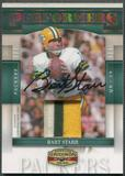2007 Donruss Gridiron Gear #4 Bart Starr Performers Patch Auto #1/5