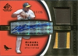 2004 SP Game Used Patch Significant Numbers Autograph Dual #MT Miguel Tejada O's 17/25