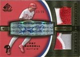 2004 SP Game Used Patch Significant Numbers Autograph Dual #PB Pat Burrell 12/25