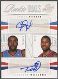 2009/10 Panini Season Update #31 James Harden & Terrence Williams Rookie Dual Auto #23/99