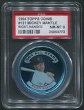1964 Topps Coins Baseball #131 Mickey Mantle Right Handed PSA 8 (NM-MT)