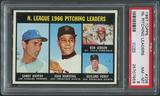 1967 Topps Baseball #236 NL Pitching Leaders Koufax Marichal Gibson Perry PSA 8 (NM-MT)