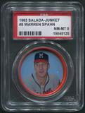 1963 Salada Junket Coins Baseball #8 Warren Spahn PSA 8 (NM-MT)
