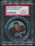 1962 Salada Coins Football #61 Ray Renfro PSA 9 (MINT)