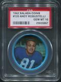 1962 Salada Coins Football #120 Andy Robustelli PSA 10 (GEM MT)