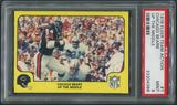 1978 Fleer Team Action Football #7 Chicago Bears Up The Middle PSA 9 (MINT)