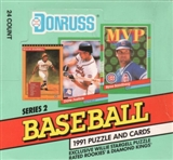 1991 Donruss Series 2 Baseball Cello Box
