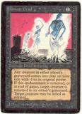 Magic the Gathering Beta Single Animate Dead - HEAVY PLAY (HP)