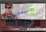 2015 Press Pass #4WJG Jeff Gordon Four Wide Firesuit Glove Shoe Sheet Metal Blue Auto #06/10