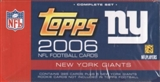 2006 Topps Football Factory Set (Box) (New York Giants)