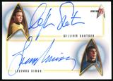 2001 Star Trek 35th Anniversary HoloFEX Autographs #DA1 William Shatner/Leonard Nimoy