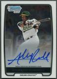 2012 Bowman Chrome Draft #AR Addison Russell Draft Pick Rookie Auto