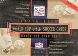 1994 Upper Deck World Cup U.S.A. Soccer Team Set