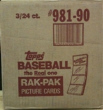 1990 Topps Baseball Rack 3-Box Case