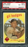 1959 Topps Baseball #270 Gil Hodges PSA 8 (NM-MT) *7271