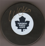 Wendel Clark Autographed Toronto Maple Leafs Hockey Puck (Frozen Pond)