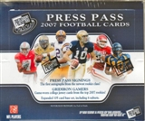 2007 Press Pass Football Hobby Box
