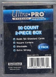 Ultra Pro 50 Count Plastic 2-Piece Storage Box (200 Count Case)