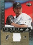 2005 Upper Deck UD Portraits Scrapbook Materials #BE Josh Beckett Jersey