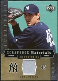 2005 Upper Deck UD Portraits Scrapbook Materials #CP Carl Pavano Jersey